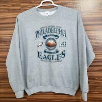VTG NFL Mens XL Philadelphia Eagles Long Sleeve Pullover Sweater Graphic NFC