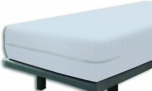 Elastic Cover Mattress Bed Protector Fully Enclosed Zipped 120x190/200cm White