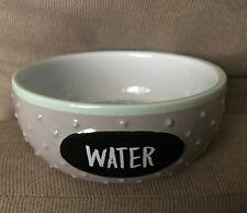 Dog Bowl TOP PAW Raised Bumps Grey Ceramic Pet Water Dish NWT