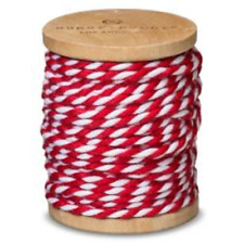 Sugar Paper Red and White Wrapping Twine, 30'