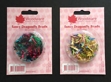 Woodware - Fancy Dragonfly Brads JL122 & JL123 Multibuy - 2 Packs 100pcs