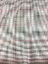 Crawford check Red Wool Effect Fabric By The Metre