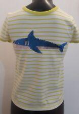 New Boden Yellow Shark T Shirt 9-10 Years