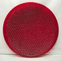 """Kopp Glass 12"""" Wide Angle Red Traffic Stop Light Lens No.TL 4955"""