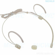 Left and Right ears Headset Microphone for Shure Bod-ypack XLR 4Pin mini
