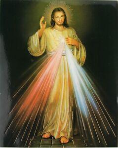 Merciful Jesus Open Heart Christian Catholic Icon Prints Gold Foil Postcard Icon