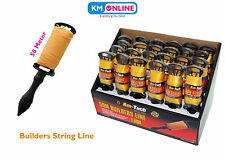 50M LONG REELS BRICK LINE Builders/Rope/String/Cord/Straight/Level G4000 Amtech