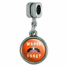 Wanna Hang Want Bat Funny Humor Italian European Style Bracelet Charm Bead