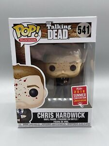 Funko Pop! Chris Hardwick #541 Bloody SDCC 2018 Summer Convention In Protector