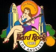 Hard Rock Cafe LOS ANGELES 2003 21st ANNIVERSARY PIN Senorita GIrl with Guitar