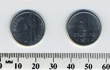 Brazil 1979 - 1 Cruzeiro Stainless Steel Coin - Sugar cane