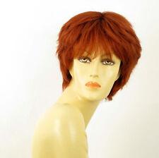 perruque femme 100% cheveux naturel courte cuivré intense ref SYLVIE 130