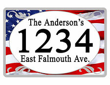 Personalized ADDRESS Sign YOUR NAME Weather Proof Aluminum SIGN FULL COLOR USA