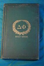 Catalogus Anni Quadragesimi Primi Fraternitatis 40th Year Delta Phi 1868 Latin