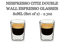 BRAND NEW NESPRESSO CITIZ DOUBLE WALL ESPRESSO GLASSES  80ML (Set of 2) – 2.7oz