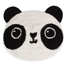 KAWAII PANDA FLOOR SHAPED RUG MAT 100% COTTON KIDS BEDROOM PLAYROOM NURSERY
