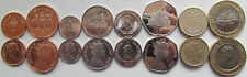 Gibraltar set of 8 coins 1998-2009 (1+2+5+10+20+50 pence + 1+2 pounds) UNC 1 -VF