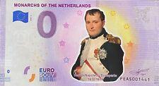 BILLET 0  EURO MONARCHS NAPOLEON BONAPARTE COULEUR  PAYS BAS 2020 N° RADAR 1441
