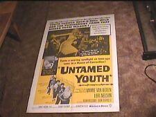 UNTAMED YOUTH 1957 ORIG MOVIE POSTER MAMIE VAN DOREN BAD GIRL EXPLOITATION