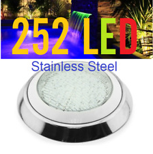 New 252 LED Stainless Pool Lights + Remote With Color program  Free Connector