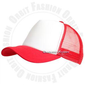 Trucker Hat Foam Mesh Back Baseball Cap Snapback Adjustable Plain Blank Men Hats