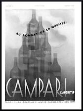 1937 ORIGINAL FRENCH SURREAL ART DECO ADVERT PRINT Campari Aperitif Ad (2295)