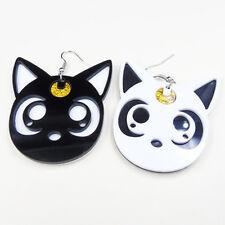 Cute 1 Pair Ladies Kawaii Moon Luna Cat Earrings Gift Women Jewelry New