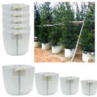5 Packungen Weiß Faser Topf Pflanze Tasche Root Behälter Pflanzbeutel Belüftung