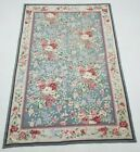 Vintage Handmade French Floral Design Multicolor Wool Aubusson Rug 263x172cm