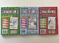 Lot of 3 Jumble 2017 Puzzle Books HARD TO FIND Penny Press DELL VARIETY Word