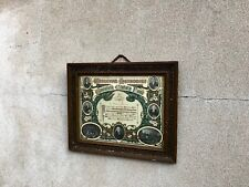 More details for antique wesleyan methodist church certificate in frame - religious church