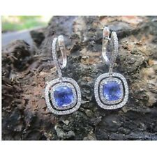 1.18 Carat Diamond White Gold Dangling Earrings 18k codeEx26 sep