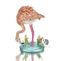 Crystal Metal Flamingos Trinket Boxes Figurines Collection Wedding Gifts Decor