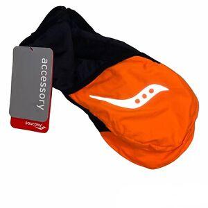 Saucony Ulti-Mitt Gloves, Black Neon Orange Unisex Medium SA90476-VP NWT