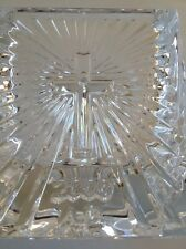 WATERFORD CRYSTAL CHRISTIANITY CANDLE STICK VOTIVE IRELAND COMMUNION RARE Mint