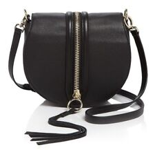 NWT ORG $295 REBECCA MINKOFF  PEBBLED LEATHER BLACK MARA SADDLE BAG CROSSBODY