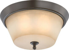 Nuvo 60/4173 Surrey 3 Light 16 inch Vintage Bronze Flushmount Ceiling Light