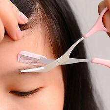 Tondeuse de précision sourcil cil Ciseaux Cheveux Peigne Vouge maquillage outil