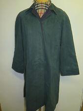 Genuine Burberry Bottle Green Cotton Raincoat Coat Mac Size UK 12 S Euro 40