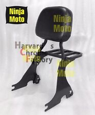 Black Detachable Sissy Bar Backrest with Luggage Rack Sportster XL883 1200 04-up