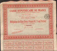 CAISSE HYPOTHÉCAIRE DE FRANCE (T)