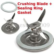 Stainless Steel Ice Crushing Blender Mixer Blade + Sealing Ring Gasket For Oster
