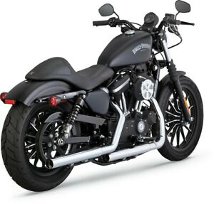 Straightshots HS Chrome Slip On Exhaust VaH. 16863 For 14-20 Harley Sportster