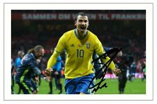 ZLATAN IBRAHIMOVIC SWEDEN AUTOGRAPH SIGNED PHOTO PRINT SOCCER