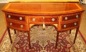 Stunning Baker Historic Charleston Mahogany Inlaid Sideboard Server Buffet