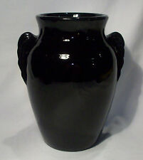 Vintage 1927 Monmouth Pottery/Western Stoneware Gloss Black Glazed Vase