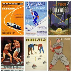 Vintage Sports Activity & Travel Posters - Art Deco Nouveau & Classic Art Prints