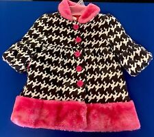 PENELOPE MACK Ltd Corduroy Faux Fur Fall Winter Dress Coat 2t