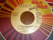 Paul Anka 45 I've Been Waiting For You All Of My Life PROMO RCA
