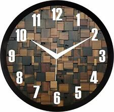 Home Decor Wooden Print Wall Clock for Home/Living Room Bedroom Kitchen